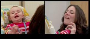 L'esperimento di Tronick: sequenza di buona sintonizzazione affettiva tra madre e bambino. La gioia si amplifica.