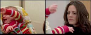 Sequenza di non sintonizzazione affettiva, il bambino si stupisce, si arrabbia e si angoscia.