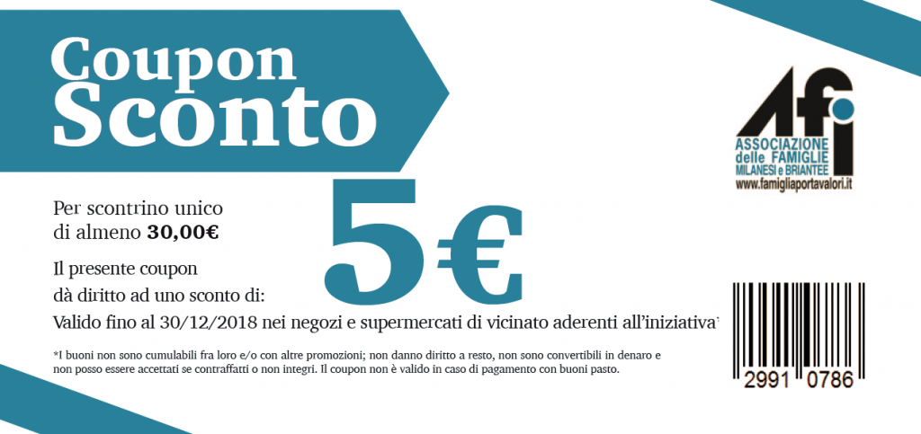 valido ogni 30 € di spesa